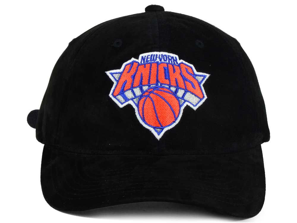 d941a193 hot sale 2017 New York Knicks Mitchell and Ness NBA Pig Suede Dad Strapback  Hat
