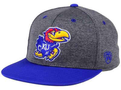 factory authentic 0624a 42925 Kansas Jayhawks Top of the World NCAA Dark Energy 2Tone Cap   lids.com