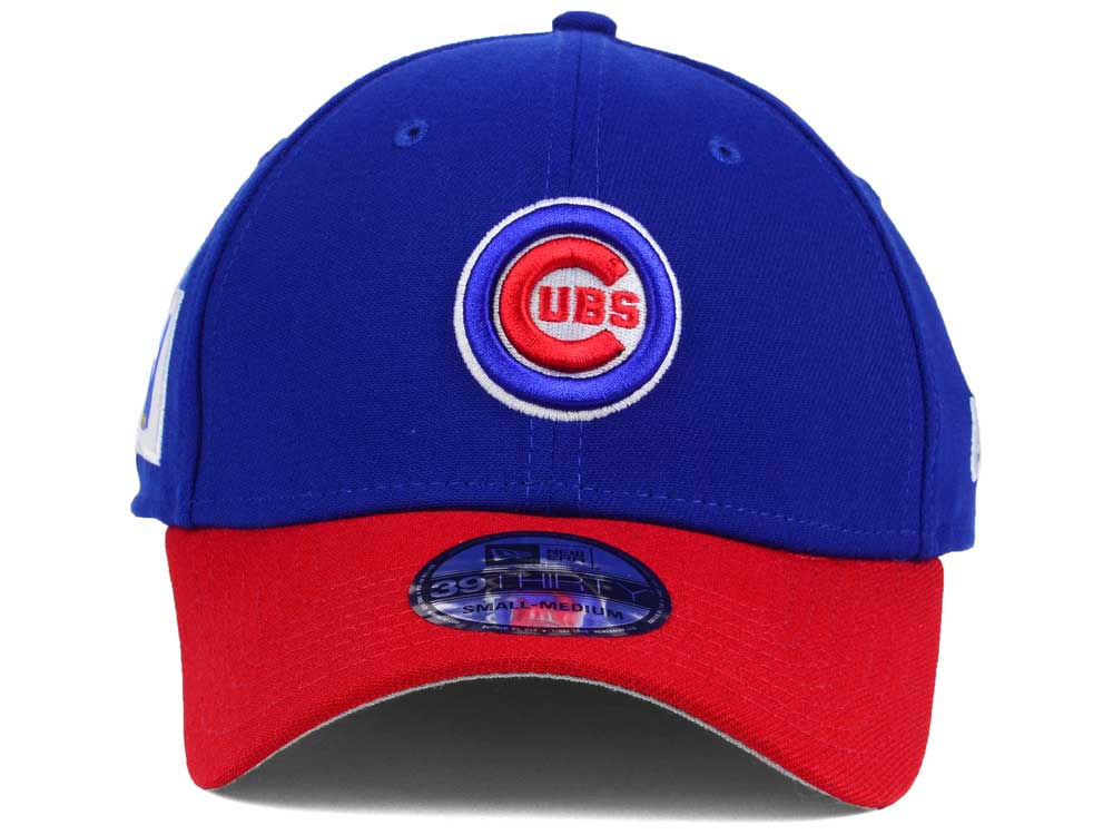 0a6904b8034 Chicago Cubs New Era MLB World Series W Trophy 39THIRTY Cap durable modeling