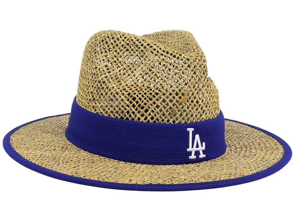 Los Angeles Dodgers New Era MLB Training Straw Hat durable modeling ... f92bf3ea052