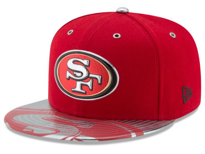 San Francisco 49ers 2017 NFL Draft Team Color 59FIFTY Cap Hats
