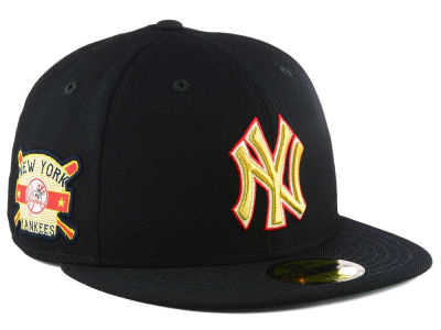New York Yankees MLB Exclusive Gold Patch 59FIFTY Cap Hats