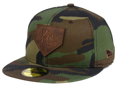 Kansas City Royals MLB The Logo of Leather 59FIFTY Cap Hats