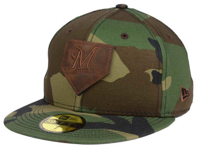 Milwaukee Brewers MLB The Logo of Leather 59FIFTY Cap Hats