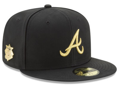 Atlanta Braves MLB The League Metallic Patch 59FIFTY Cap Hats