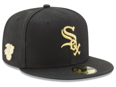 Chicago White Sox MLB The League Metallic Patch 59FIFTY Cap Hats