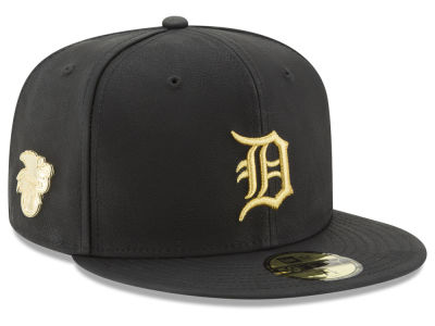 Detroit Tigers MLB The League Metallic Patch 59FIFTY Cap Hats