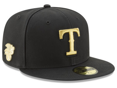 Texas Rangers MLB The League Metallic Patch 59FIFTY Cap Hats