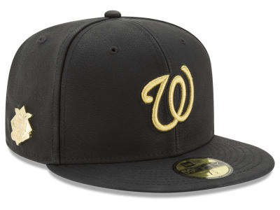 Washington Nationals MLB The League Metallic Patch 59FIFTY Cap Hats