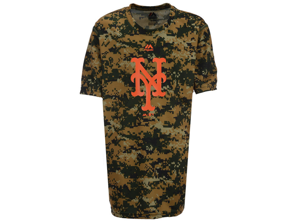 2f6dffe5e2cac durable modeling New York Mets Outerstuff MLB Youth Digi Camo Sublimated  Cool Base T-Shirt