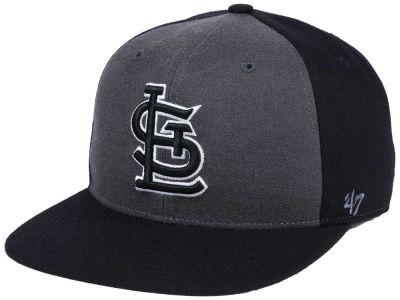 differently d016f 21b45 St. Louis Cardinals  47 MLB Black Sure Shot Accent Snapback Cap   lids.com