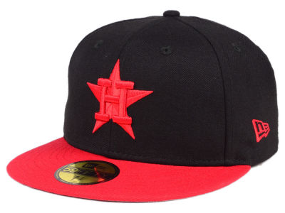 Houston Astros MLB Black & Red 59FIFTY Cap Hats