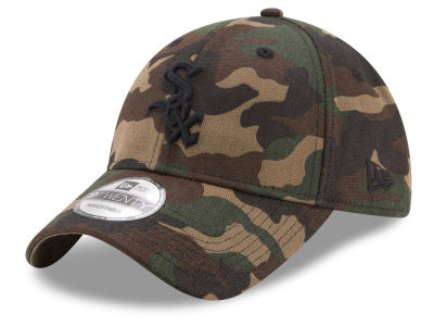 Chicago White Sox MLB Camo on Canvas 9TWENTY Strapback Cap Hats