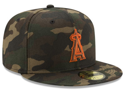 Los Angeles Angels MLB Camo On Canvas 59FIFTY Cap Hats