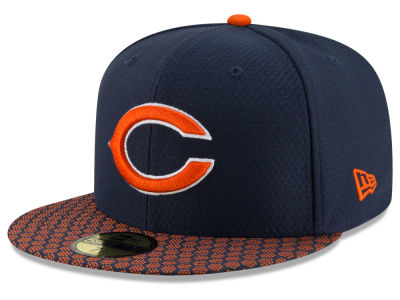 Chicago Bears 2017 Official NFL Sideline 59FIFTY Cap Hats
