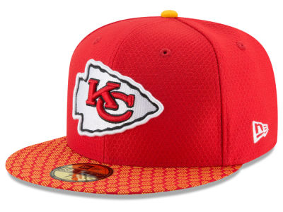 Kansas City Chiefs 2017 Official NFL Sideline 59FIFTY Cap Hats
