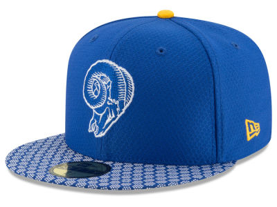 Los Angeles Rams 2017 Official NFL Sideline 59FIFTY Cap Hats
