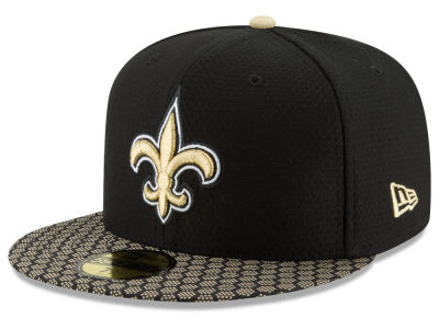 New Orleans Saints 2017 Official NFL Sideline 59FIFTY Cap Hats