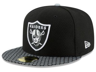 Oakland Raiders 2017 Official NFL Sideline 59FIFTY Cap Hats