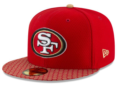 San Francisco 49ers 2017 Official NFL Sideline 59FIFTY Cap Hats