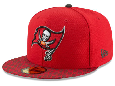 Tampa Bay Buccaneers 2017 Official NFL Sideline 59FIFTY Cap Hats