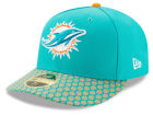 Miami Dolphins New Era 2017 Official NFL Low Profile Sideline 59FIFTY Cap Low Profile 59FIFTY Hats