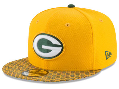 Green Bay Packers 2017 NFL Official Sideline 9FIFTY Snapback Cap Hats