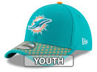Miami Dolphins New Era 2017 Official NFL Kids Sideline 39THIRTY Cap Stretch Fitted Hats
