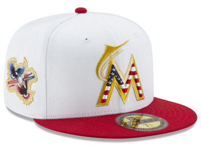 Miami Marlins MLB Americana Ultimate Patch Collection 59FIFTY Cap Hats