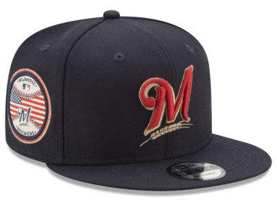 Milwaukee Brewers MLB Full Americana Patch 9FIFTY Snapback Cap Hats