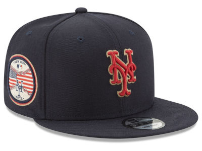 New York Mets MLB Full Americana Patch 9FIFTY Snapback Cap Hats