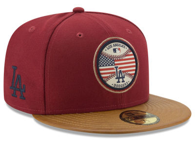 Los Angeles Dodgers MLB Leather Americana 59FIFTY Cap Hats