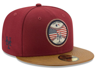 New York Mets MLB Leather Americana 59FIFTY Cap Hats