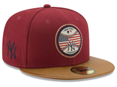 New York Yankees MLB Leather Americana 59FIFTY Cap Hats