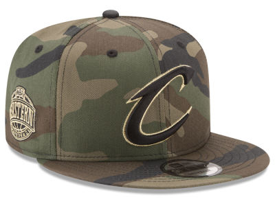 Cleveland Cavaliers NBA Metallic Woodland 9FIFTY Snapback Cap Hats