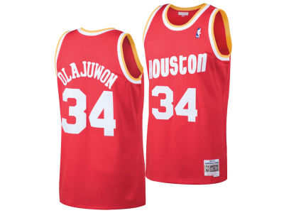 e4e5148f9 Houston Rockets Hakeem Olajuwon Mitchell   Ness NBA Men s Hardwood Classic  Swingman Jersey