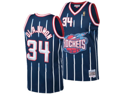 51822537d Houston Rockets Hakeem Olajuwon Mitchell   Ness NBA Men s Hardwood Classic  Swingman Jersey