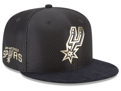 San Antonio Spurs NBA On-Court Black Gold Collection 9FIFTY Snapback Cap Hats