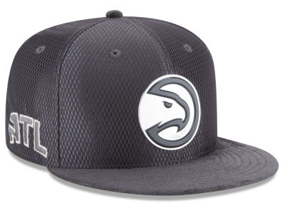Atlanta Hawks NBA On-Court Graphite Collection 9FIFTY Snapback Cap Hats