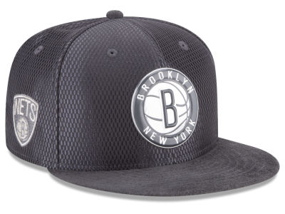 Brooklyn Nets NBA On-Court Graphite Collection 9FIFTY Snapback Cap Hats