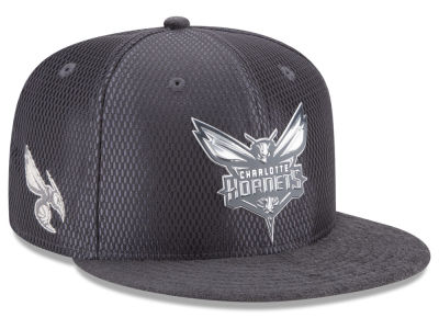 Charlotte Hornets NBA On-Court Graphite Collection 9FIFTY Snapback Cap Hats