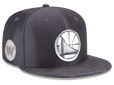 Golden State Warriors NBA On-Court Graphite Collection 9FIFTY Snapback Cap Hats