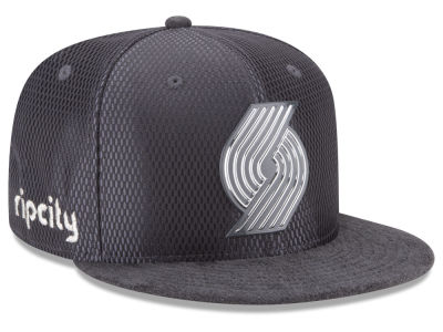 Portland Trail Blazers NBA On-Court Graphite Collection 9FIFTY Snapback Cap Hats