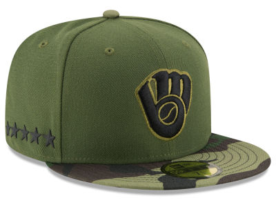 Milwaukee Brewers 2017 MLB Memorial Day 59FIFTY Cap Hats