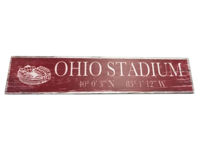 Stadium Sign with Coordinates