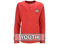 NCAA Youth Hunter Striped Long Sleeve Henley T-Shirts