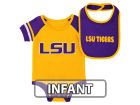 LSU Tigers Colosseum NCAA Infant Rollout Onesie and Bib Set Infant Apparel