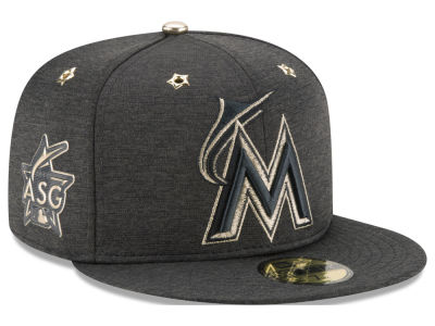 Miami Marlins 2017 MLB Youth All Star Game Patch 59FIFTY Cap Hats