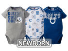 Indianapolis Colts NFL Newborn 3Pk Bodysuit Infant Apparel