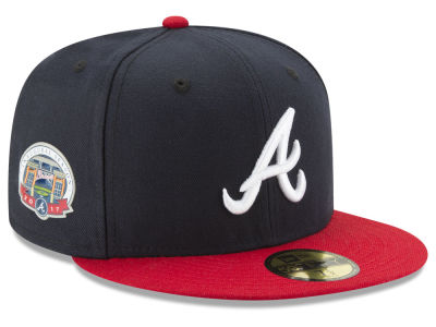 Atlanta Braves 2017 Kids Inaugural Season Patch 59FIFTY Cap Hats